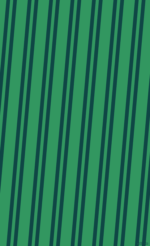 85 degree angles dual stripe line, 12 pixel line width, 10 and 35 pixels line spacing, Cyprus and Eucalyptus dual two line striped seamless tileable