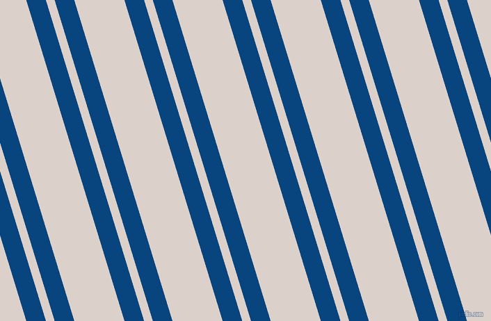 107 degree angles dual stripes line, 27 pixel line width, 12 and 69 pixels line spacing, Dark Cerulean and Swiss Coffee dual two line striped seamless tileable