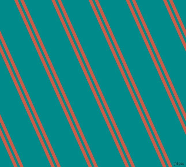114 degree angles dual stripes lines, 11 pixel lines width, 8 and 88 pixels line spacing, Dark Coral and Dark Cyan dual two line striped seamless tileable