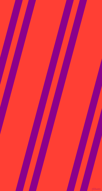 75 degree angle dual stripes line, 29 pixel line width, 24 and 122 pixel line spacing, Dark Magenta and Red Orange dual two line striped seamless tileable