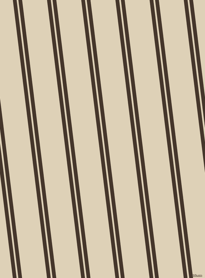 97 degree angles dual stripes lines, 13 pixel lines width, 6 and 86 pixels line spacing, Dark Rum and Spanish White dual two line striped seamless tileable