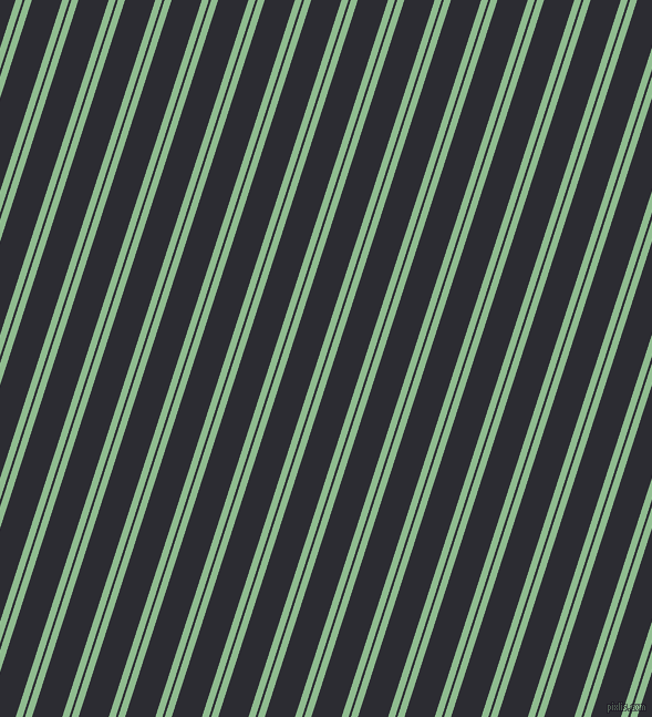 72 degree angles dual stripes lines, 6 pixel lines width, 2 and 26 pixels line spacing, Dark Sea Green and Bastille dual two line striped seamless tileable