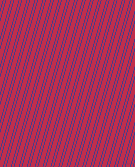 74 degree angle dual striped line, 3 pixel line width, 6 and 14 pixel line spacing, Dark Slate Blue and Old Rose dual two line striped seamless tileable