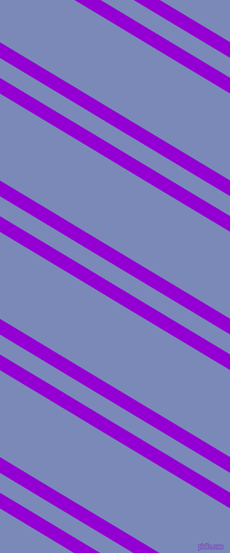 149 degree angles dual striped lines, 19 pixel lines width, 24 and 105 pixels line spacing, Dark Violet and Wild Blue Yonder dual two line striped seamless tileable