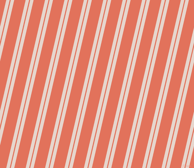 77 degree angles dual stripes lines, 13 pixel lines width, 4 and 43 pixels line spacing, Dawn Pink and Terra Cotta dual two line striped seamless tileable