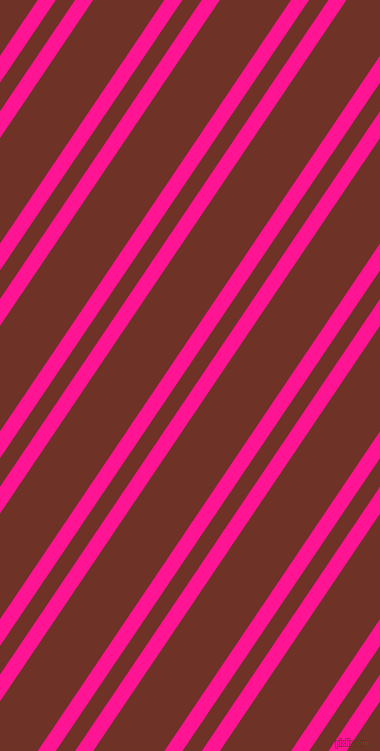 56 degree angles dual stripes lines, 15 pixel lines width, 16 and 59 pixels line spacing, Deep Pink and Pueblo dual two line striped seamless tileable