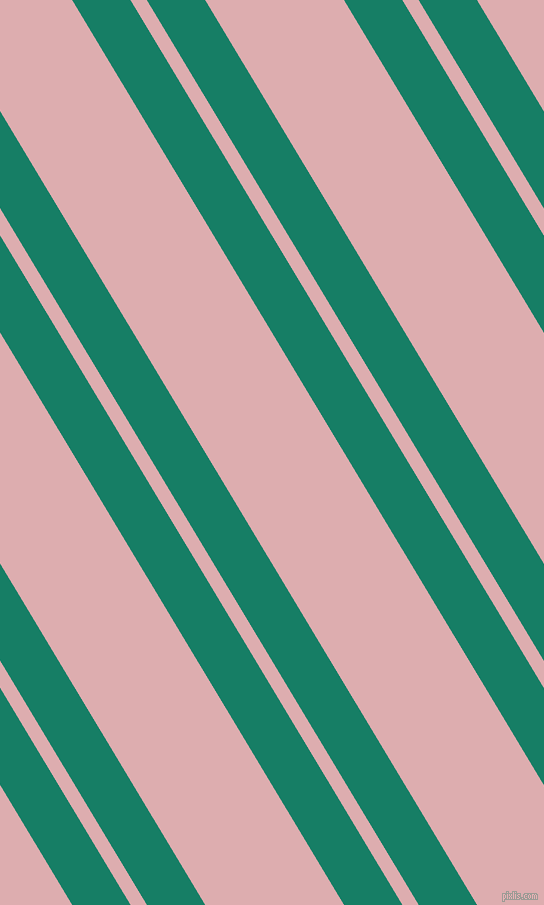 121 degree angle dual stripe lines, 50 pixel lines width, 14 and 119 pixel line spacing, Deep Sea and Pale Chestnut dual two line striped seamless tileable