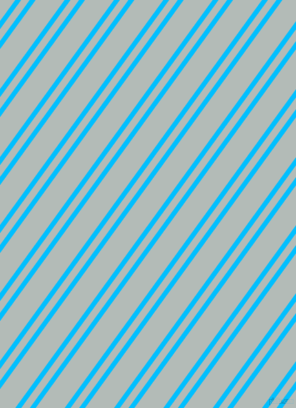 54 degree angle dual stripes lines, 7 pixel lines width, 10 and 34 pixel line spacing, Deep Sky Blue and Loblolly dual two line striped seamless tileable