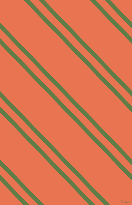 134 degree angle dual stripes line, 14 pixel line width, 22 and 110 pixel line spacing, Dingley and Burnt Sienna dual two line striped seamless tileable