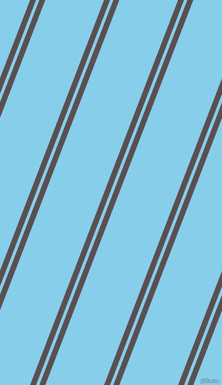 69 degree angle dual stripes lines, 11 pixel lines width, 6 and 108 pixel line spacing, Don Juan and Sky Blue dual two line striped seamless tileable