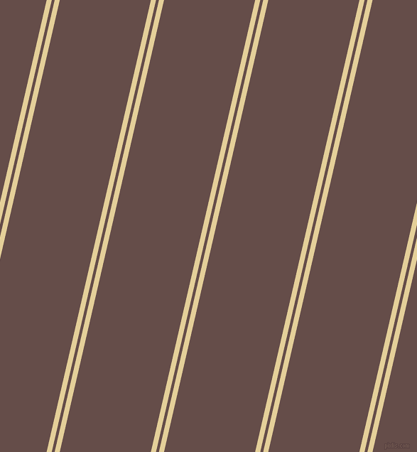 77 degree angle dual stripes line, 7 pixel line width, 4 and 125 pixel line spacing, Double Colonial White and Congo Brown dual two line striped seamless tileable