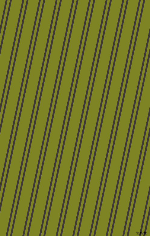 78 degree angles dual stripe line, 6 pixel line width, 8 and 34 pixels line spacing, Eclipse and Trendy Green dual two line striped seamless tileable