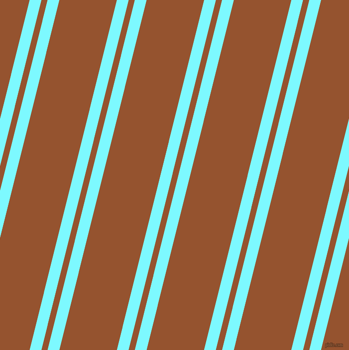 76 degree angle dual striped lines, 23 pixel lines width, 12 and 112 pixel line spacing, Electric Blue and Chelsea Gem dual two line striped seamless tileable