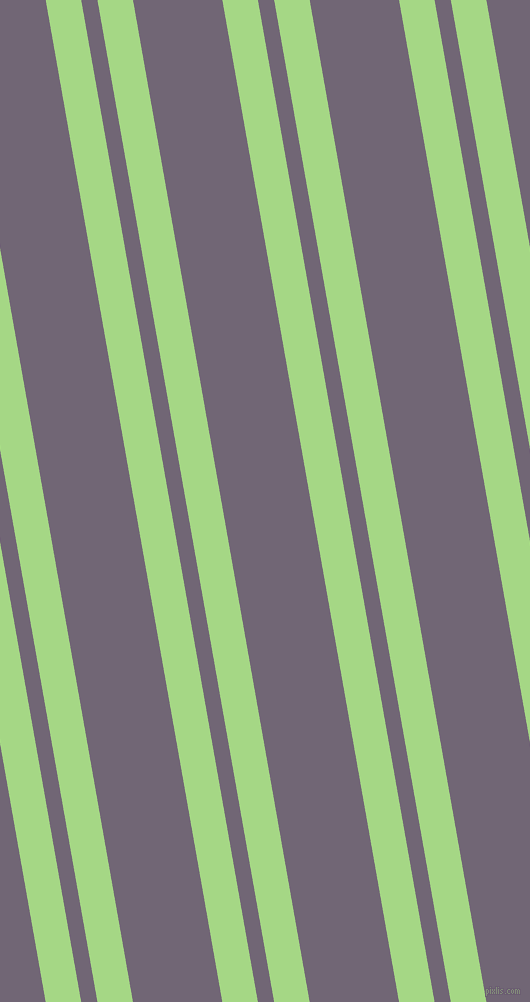 100 degree angle dual striped lines, 35 pixel lines width, 16 and 88 pixel line spacing, Feijoa and Rum dual two line striped seamless tileable