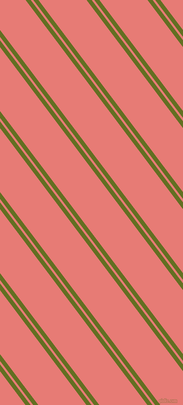 127 degree angles dual stripes line, 8 pixel line width, 4 and 75 pixels line spacing, Fiji Green and Geraldine dual two line striped seamless tileable