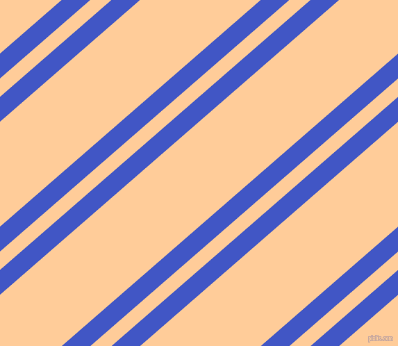 41 degree angles dual striped line, 27 pixel line width, 20 and 114 pixels line spacing, Free Speech Blue and Peach-Orange dual two line striped seamless tileable