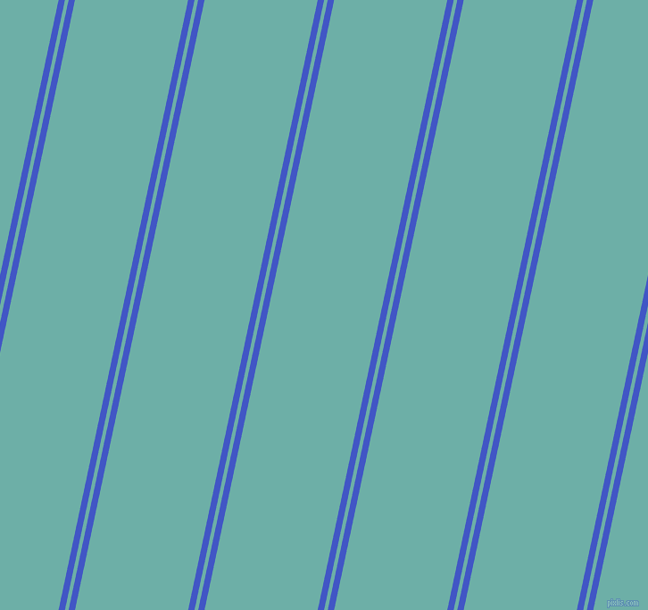 78 degree angles dual striped line, 7 pixel line width, 4 and 124 pixels line spacing, Free Speech Blue and Tradewind dual two line striped seamless tileable
