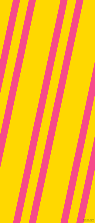 78 degree angle dual striped line, 23 pixel line width, 28 and 79 pixel line spacing, French Rose and School Bus Yellow dual two line striped seamless tileable