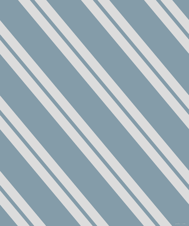 130 degree angle dual stripes lines, 31 pixel lines width, 12 and 91 pixel line spacing, Gainsboro and Bali Hai dual two line striped seamless tileable