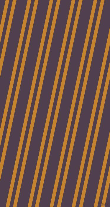 78 degree angle dual stripes line, 12 pixel line width, 12 and 37 pixel line spacing, Geebung and Purple Taupe dual two line striped seamless tileable