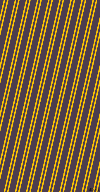 77 degree angle dual stripes lines, 5 pixel lines width, 6 and 21 pixel line spacing, Golden Poppy and Bossanova dual two line striped seamless tileable
