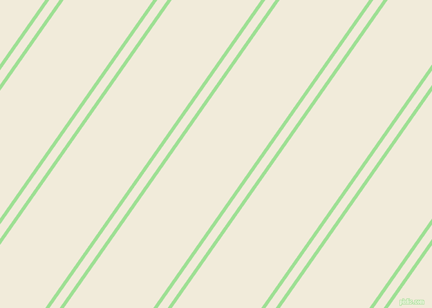 55 degree angles dual stripes line, 5 pixel line width, 12 and 106 pixels line spacing, Granny Smith Apple and Buttery White dual two line striped seamless tileable