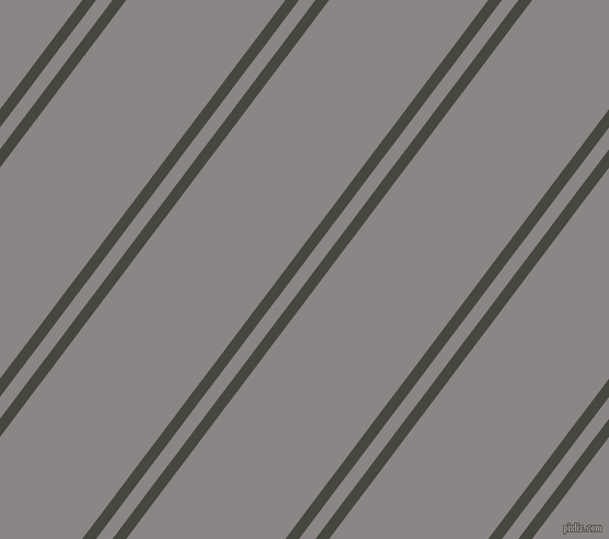53 degree angle dual stripe line, 10 pixel line width, 12 and 116 pixel line spacing, Heavy Metal and Suva Grey dual two line striped seamless tileable