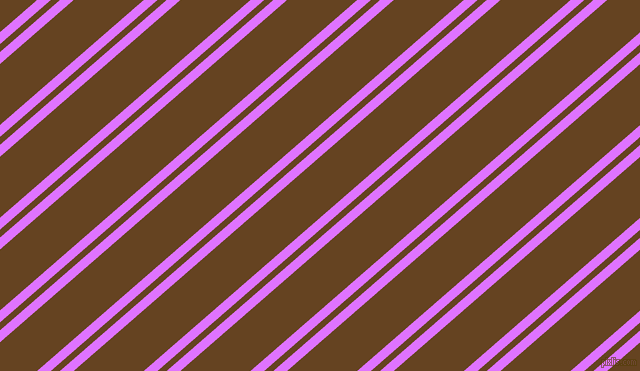 41 degree angles dual stripes lines, 9 pixel lines width, 6 and 46 pixels line spacing, Heliotrope and Dark Brown dual two line striped seamless tileable