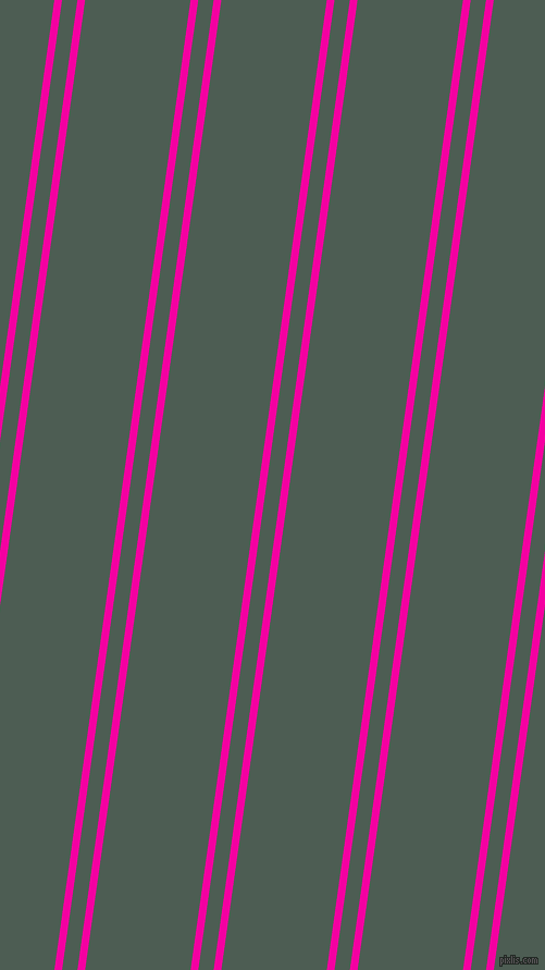 82 degree angle dual stripe lines, 7 pixel lines width, 14 and 96 pixel line spacing, Hollywood Cerise and Feldgrau dual two line striped seamless tileable