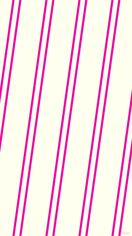 82 degree angles dual striped lines, 8 pixel lines width, 18 and 91 pixels line spacing, Hollywood Cerise and Ivory dual two line striped seamless tileable