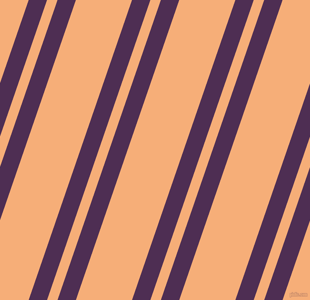 71 degree angles dual striped line, 35 pixel line width, 20 and 107 pixels line spacing, Hot Purple and Tacao dual two line striped seamless tileable