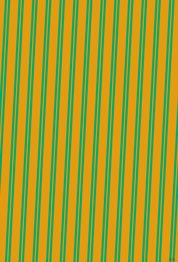 87 degree angle dual stripe line, 7 pixel line width, 4 and 28 pixel line spacing, Jade and Gamboge dual two line striped seamless tileable