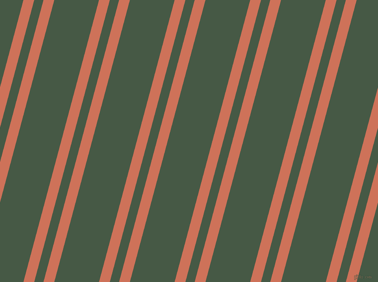 75 degree angle dual striped lines, 21 pixel lines width, 18 and 87 pixel line spacing, Japonica and Grey-Asparagus dual two line striped seamless tileable