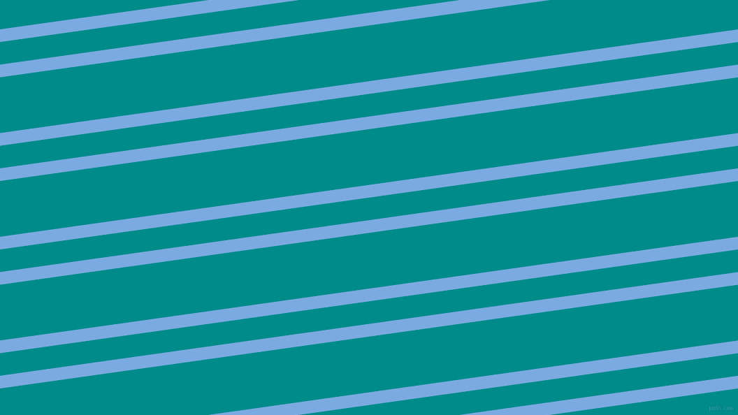 8 degree angles dual stripes lines, 18 pixel lines width, 32 and 79 pixels line spacing, Jordy Blue and Dark Cyan dual two line striped seamless tileable