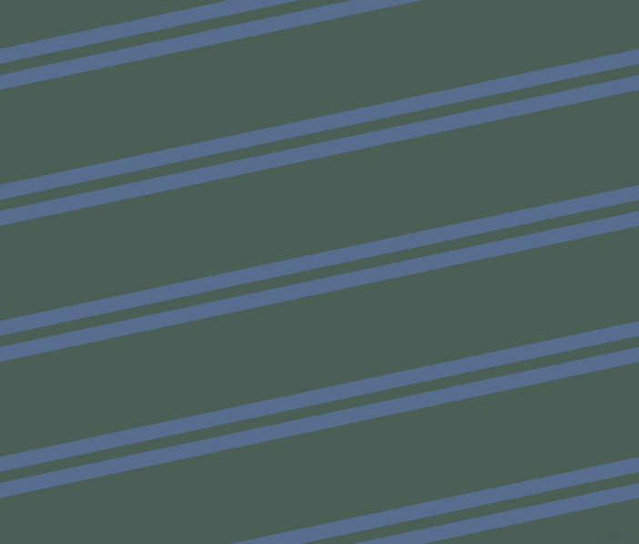 12 degree angle dual stripe lines, 16 pixel lines width, 12 and 102 pixel line spacing, Kashmir Blue and Viridian Green dual two line striped seamless tileable