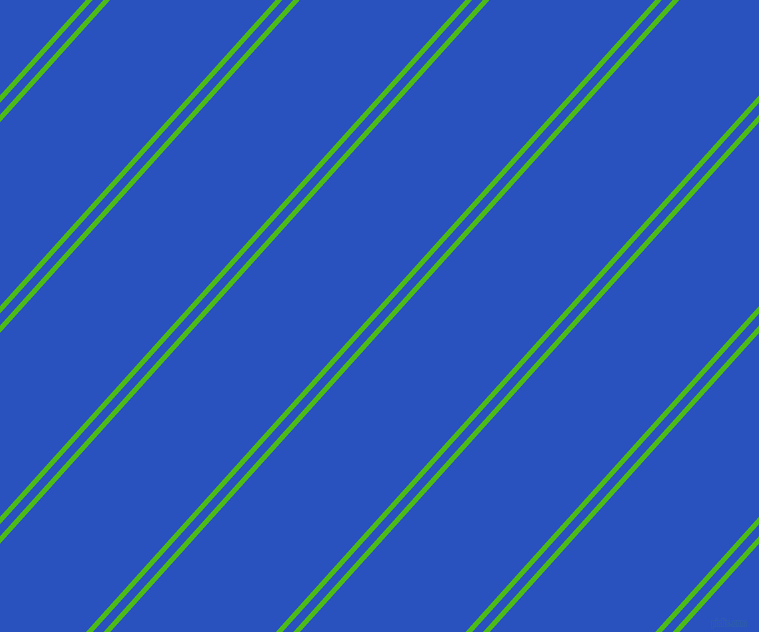 48 degree angles dual stripe lines, 5 pixel lines width, 8 and 123 pixels line spacing, Kelly Green and Cerulean Blue dual two line striped seamless tileable