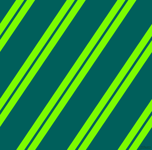 56 degree angle dual stripes lines, 23 pixel lines width, 8 and 90 pixel line spacing, Lawn Green and Mosque dual two line striped seamless tileable