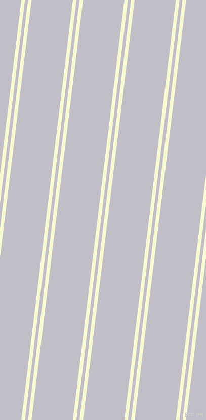 83 degree angles dual stripes lines, 7 pixel lines width, 6 and 81 pixels line spacing, Light Goldenrod Yellow and Ghost dual two line striped seamless tileable