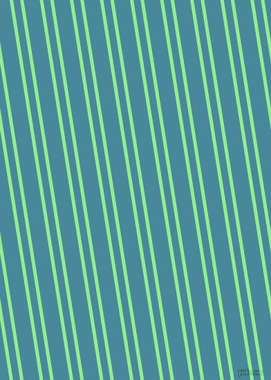 99 degree angle dual striped lines, 5 pixel lines width, 10 and 23 pixel line spacing, Light Green and Hippie Blue dual two line striped seamless tileable