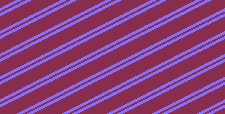27 degree angles dual stripe line, 9 pixel line width, 6 and 43 pixels line spacingLight Slate Blue and Disco dual two line striped seamless tileable