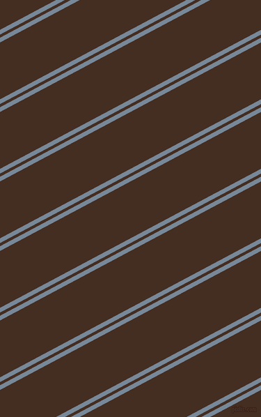 28 degree angle dual stripes lines, 6 pixel lines width, 4 and 72 pixel line spacing, Light Slate Grey and Morocco Brown dual two line striped seamless tileable