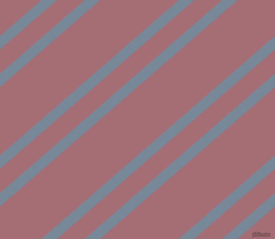 41 degree angles dual striped line, 20 pixel line width, 36 and 102 pixels line spacing, Light Slate Grey and Turkish Rose dual two line striped seamless tileable