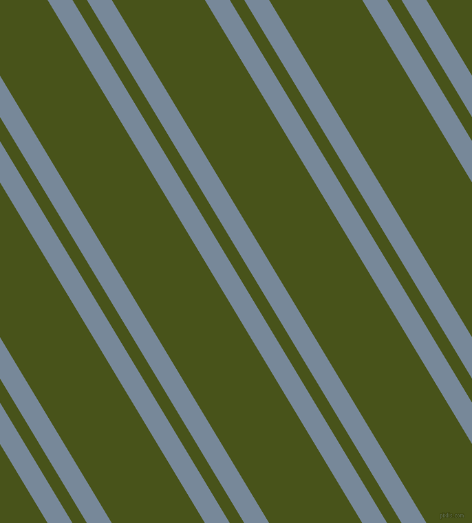 121 degree angle dual stripes lines, 31 pixel lines width, 18 and 116 pixel line spacing, Light Slate Grey and Verdun Green dual two line striped seamless tileable