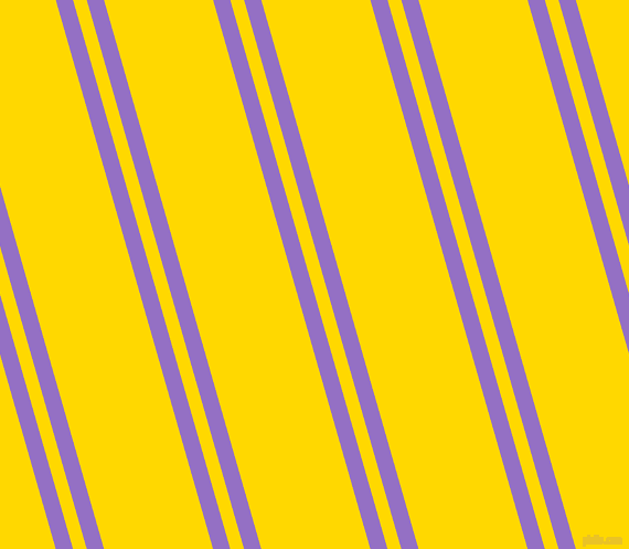 106 degree angle dual striped lines, 15 pixel lines width, 12 and 95 pixel line spacing, Lilac Bush and School Bus Yellow dual two line striped seamless tileable