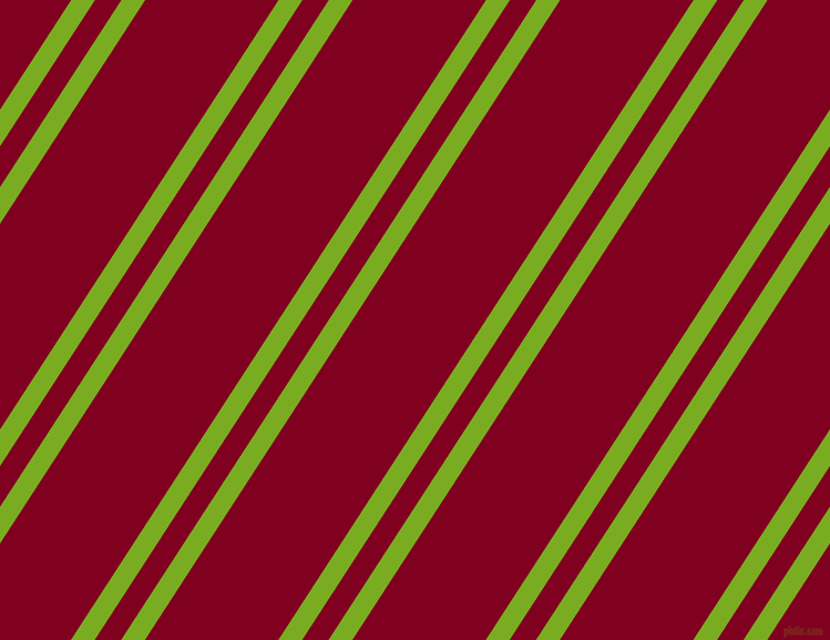 57 degree angle dual stripe line, 18 pixel line width, 20 and 101 pixel line spacing, Lima and Burgundy dual two line striped seamless tileable