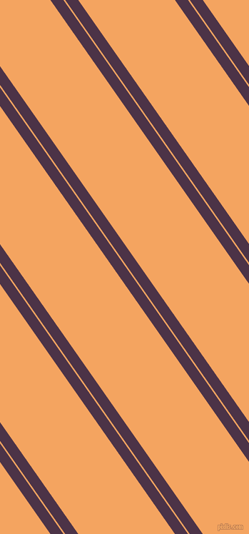 125 degree angles dual stripe line, 15 pixel line width, 2 and 111 pixels line spacing, Loulou and Sandy Brown dual two line striped seamless tileable