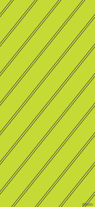 51 degree angle dual striped line, 2 pixel line width, 4 and 55 pixel line spacing, Lunar Green and Las Palmas dual two line striped seamless tileable