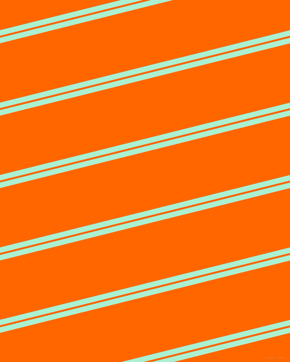 14 degree angles dual stripes lines, 11 pixel lines width, 4 and 118 pixels line spacing, Magic Mint and Safety Orange dual two line striped seamless tileable