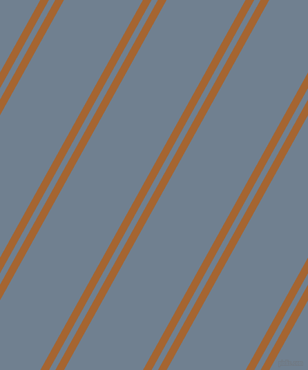61 degree angles dual stripe lines, 11 pixel lines width, 8 and 100 pixels line spacing, Mai Tai and Slate Grey dual two line striped seamless tileable