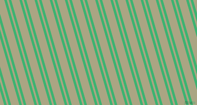 106 degree angle dual stripe line, 8 pixel line width, 6 and 26 pixel line spacing, Medium Sea Green and Neutral Green dual two line striped seamless tileable